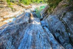 Verzasca River Landscape, Switzerland III Stock Photography