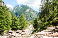 Verzasca river in Swiss Stock Photo