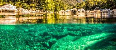 Verzasca Rzeczna Połówka Zanurzający Widok, Szwajcaria Zdjęcia Stock