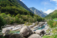 Verzasca valley Ticino Switzerland Stock Image
