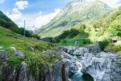 Verzasca valley Ticino Switzerland Royalty Free Stock Images