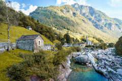 Verzasca valley Ticino Switzerland Royalty Free Stock Photo