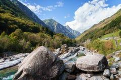 Verzasca valley Ticino Switzerland Stock Photography
