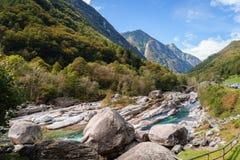 Verzasca valley Ticino Switzerland Stock Photos