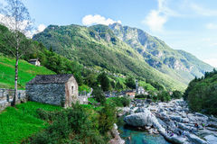 Verzasca valley Ticino Switzerland Royalty Free Stock Photos