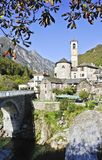 Verzasca Village Stock Image