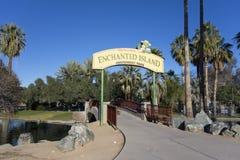 Verzauberte Insel in Encanto-Park, Phoenix, AZ Lizenzfreies Stockbild