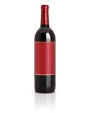 Verzegelde rode wijnfles Stock Afbeeldingen