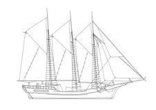 Verzegelende geïsoleerde schipblauwdruk - royalty-vrije illustratie