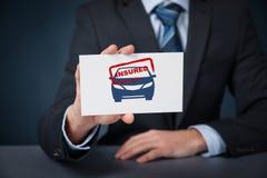 Verzekerde auto Royalty-vrije Stock Afbeelding