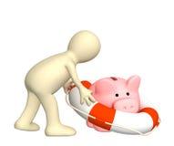 Verzekering van bankbijdragen Royalty-vrije Stock Foto