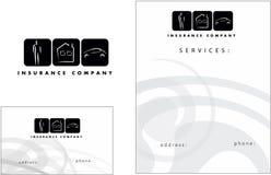 Verzekerings modern embleem, Adreskaartje, Vlieger Stock Fotografie