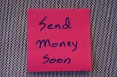 Verzend geld Stock Foto