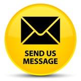 Verzend ons bericht speciale gele ronde knoop Royalty-vrije Stock Fotografie