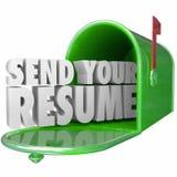 Verzend Uw Samenvatting toepassen Job Position Get Interview New-Carrière Opp Royalty-vrije Stock Foto's