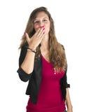 Verzendt een kus Stock Fotografie