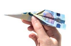 Verzendt het bankbiljet euro lucht twintig van de Cashbackvlieger royalty-vrije stock afbeelding