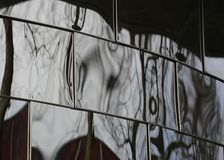Verzerrte Reflexionen Stockbild
