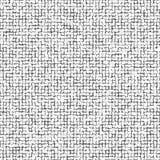 Verzerrtes abstraktes Muster der Quadrate Schwarze Quadrate lokalisiert auf weißem Hintergrund Abbildung für Ihre Auslegung Laute Stockfotografie