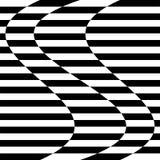 Verzerrungseffekte auf verschiedene Muster Geometrisches verformtes textu lizenzfreie abbildung