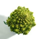 Verzieren Sie broccoflower Draufsicht - brocolli auf Weiß Lizenzfreie Stockfotografie
