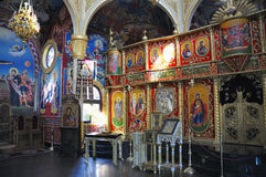 Verzieren Sie inneres Kirche Heiliges Vlasiy, Bulgarien Stockfotos