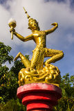 Verzieren Sie Laterne in Wat Mokkanlan, Chomthong Chiangmai Thailand Stockfotos