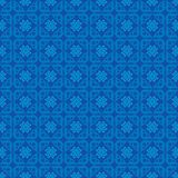 Verzieren Sie Liebes-Muster-Hintergrund-Blau stock abbildung