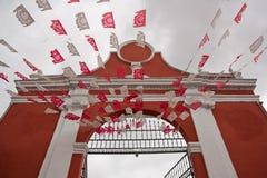 Verzierte acces zu einer Kirche in Puebla Lizenzfreie Stockfotos