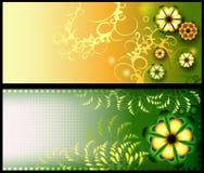Verzierte Blumenfahnen Lizenzfreies Stockbild