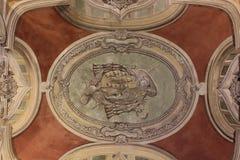 Verzierte Decke in Jeronimos-Kloster Lizenzfreies Stockfoto