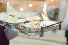 Verzierte Fische mit Feuer Stockbild