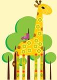 Verzierte Giraffe Lizenzfreies Stockfoto