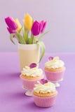 Verzierte kleine Kuchen Stockfoto