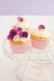Verzierte kleine Kuchen Stockfotografie