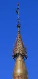 Verzierte Spitze von Shwedagon-Pagode Stockbild