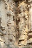 Verzierte Wand mit einer mythologischen Zahl Stockfoto