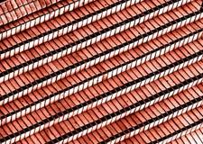 Verzierte Wand von den roten Backsteinen Alter Hintergrund der roten Backsteine Lizenzfreie Stockfotografie