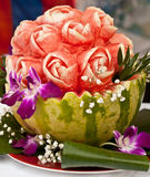 Verzierte Wassermelone Stockfotos