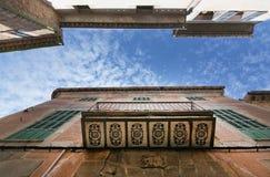 Verzierter Balkon Soller lizenzfreie stockfotos