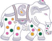 Verzierter bunter indischer Elefant Lizenzfreie Stockfotografie
