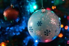 Verzierter Chrismas-Baum, Kiefer, neues Jahr stockfoto