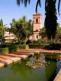Der Alhambra-Palast-Garten in Granada Stockbild