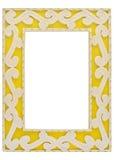 Verzierter gelber Bilderrahmen mit Pfad Stockfotos