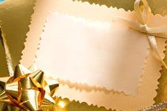 Verzierter Geschenkkasten Stockbild
