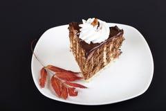 Verzierter Schokoladenkuchen Lizenzfreie Stockfotografie