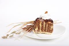 Verzierter Schokoladenkuchen Stockbilder
