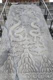 Verzierter Stein der eligious Gebäude Peking China Tempels Himmelstempels Tiantan Daoist Stockbild