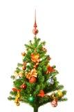 Verzierter Weihnachten-Baum Stockfoto