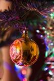Verzierter Weihnachtsbaum Stockfotografie